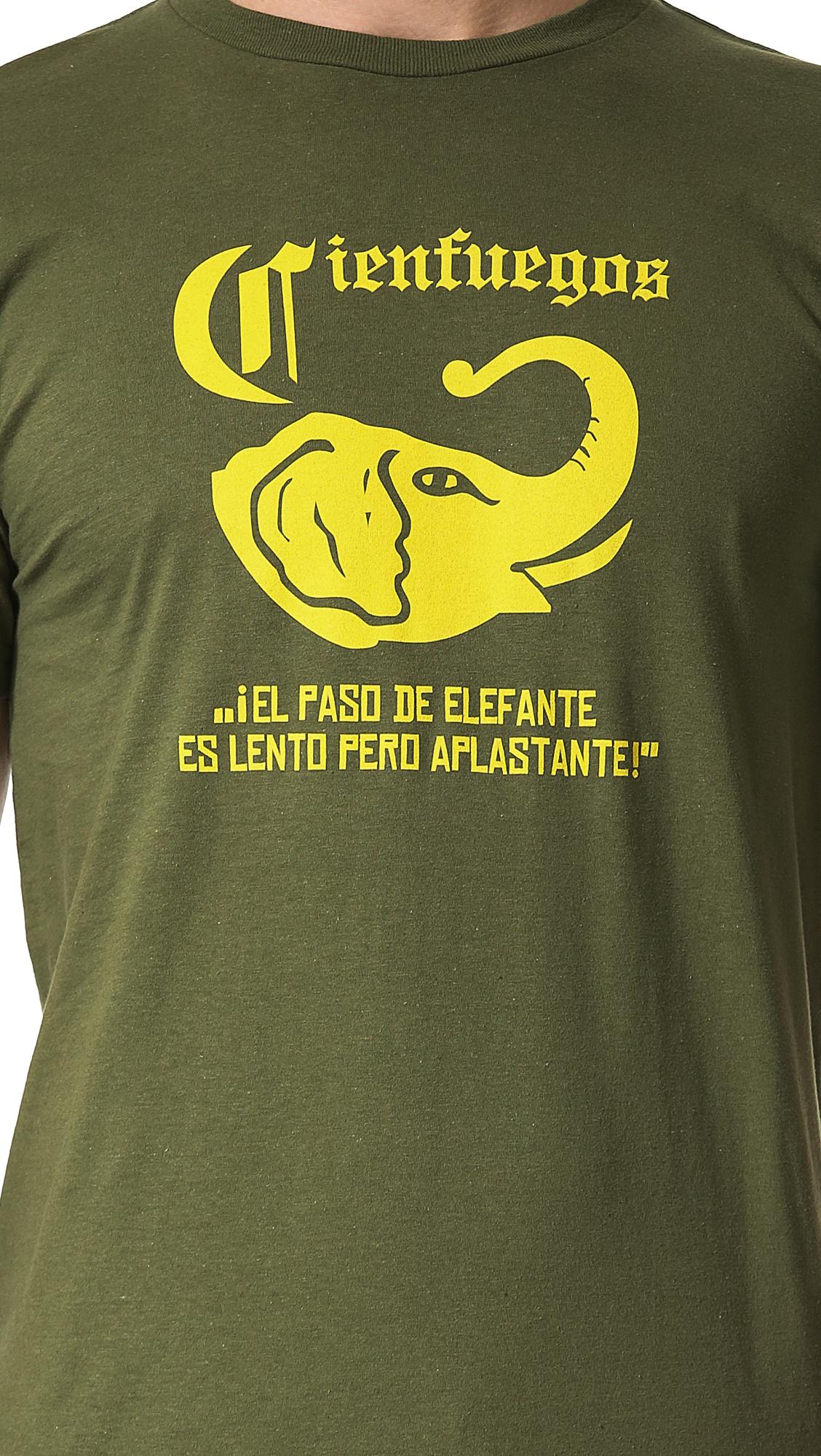 Ebbets Field Flannels Cienfuegos Elefantes Tshirt in Olive (Green) for Men