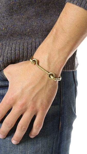 Eddie Borgo Door Latch Cuff In Gold For Men Lyst