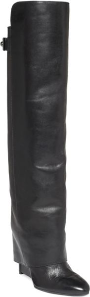Enzo Angiolini Damus Wedge Boots in Black (Black Leather)
