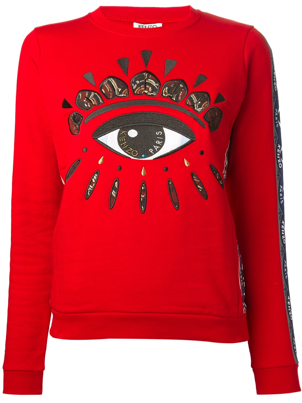 kenzo eye panel sweater in red lyst. Black Bedroom Furniture Sets. Home Design Ideas