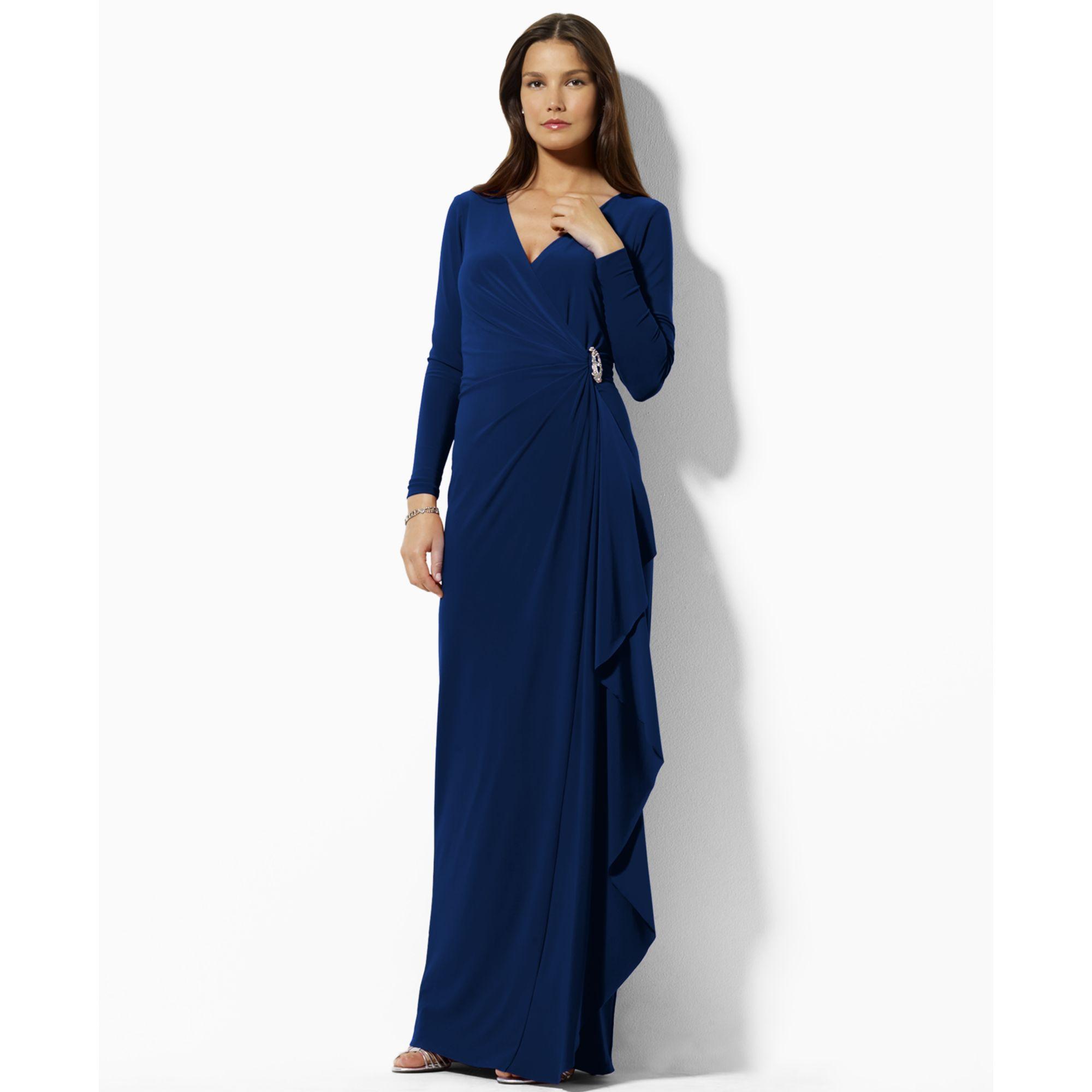 Lyst - Lauren By Ralph Lauren Lauren By Ralph Lauren Dress Long ...