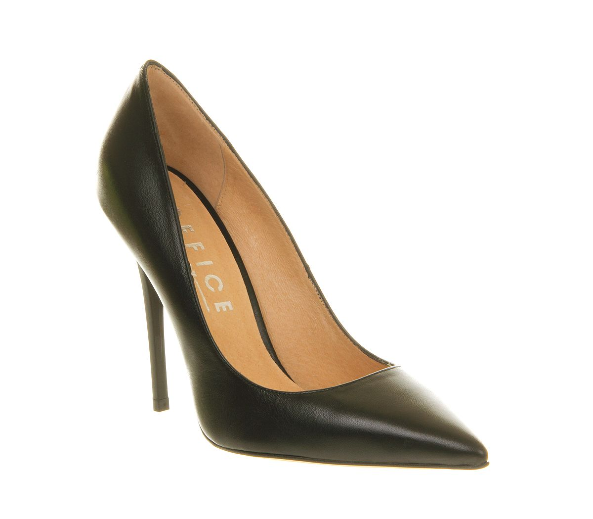 office on top pointed court shoes in black lyst