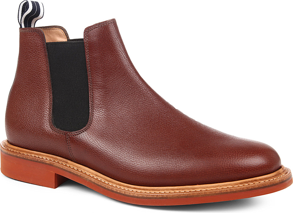 oliver spencer danite chelsea boot in brown for men lyst. Black Bedroom Furniture Sets. Home Design Ideas