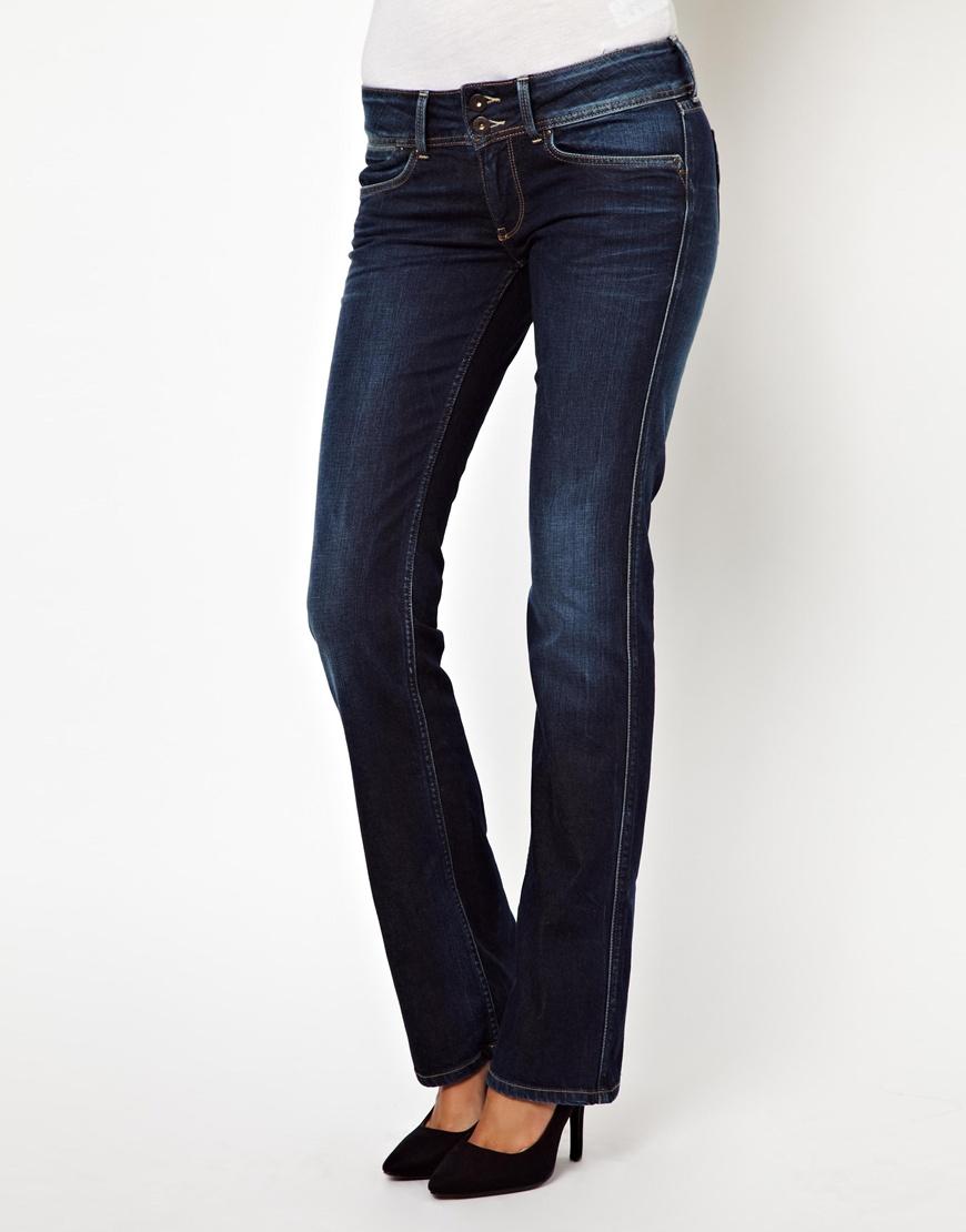 Pepe jeans London Grace Bootcut Jeans in Blue | Lyst