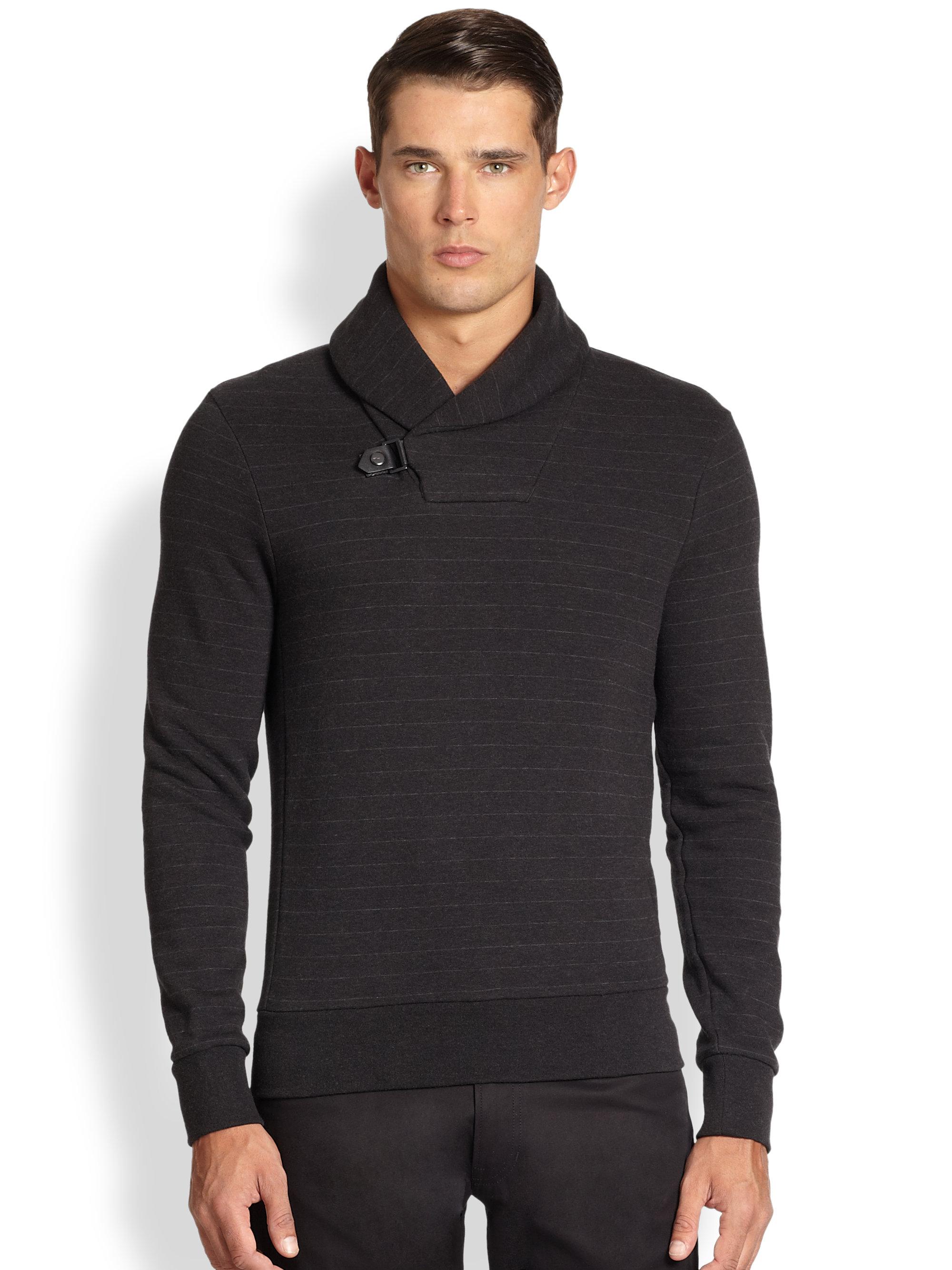 Ralph Lauren Fashion Show At New York: Ralph Lauren Black Label Shawl Collar Sweater In