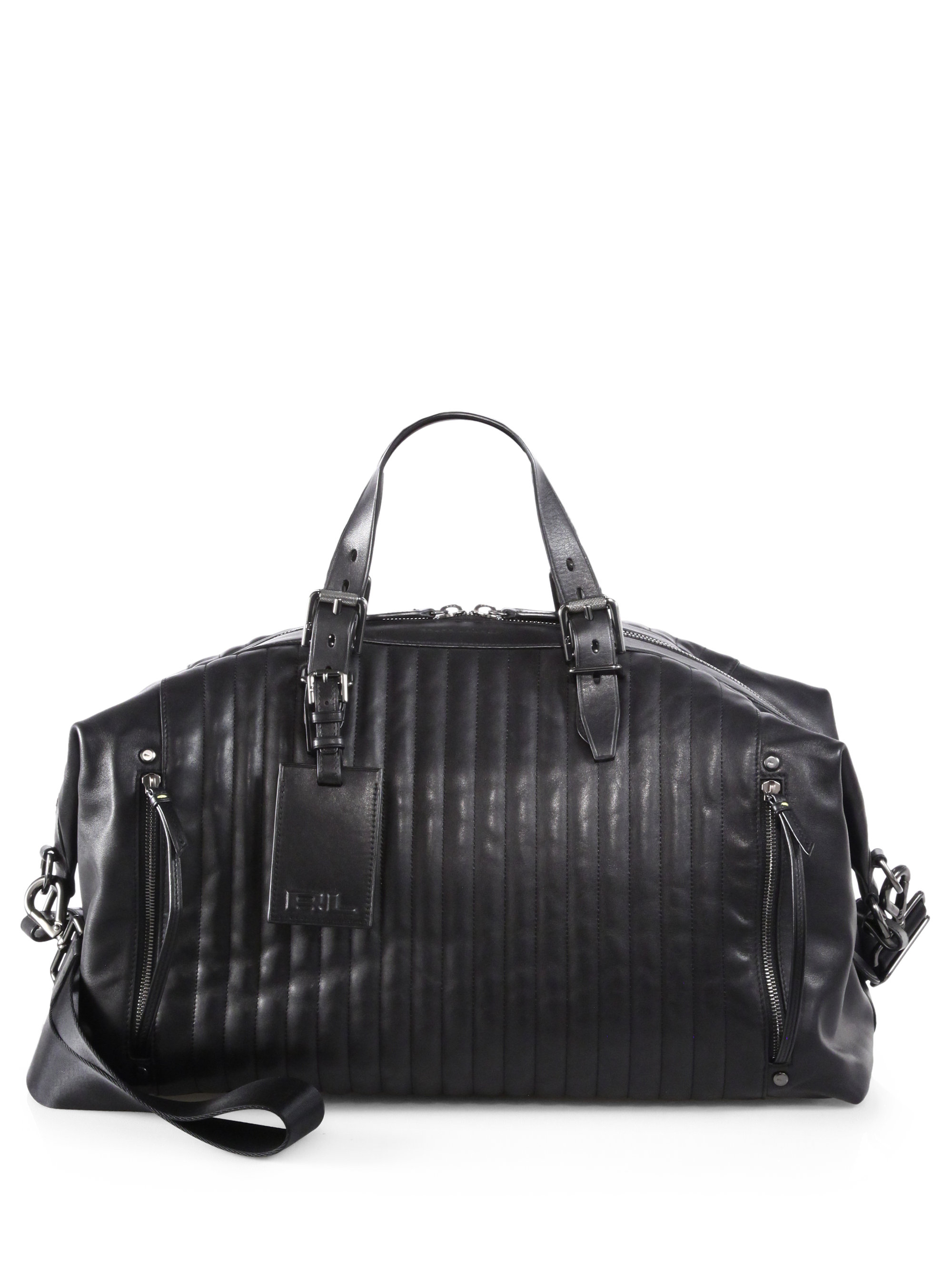 Black Quilted Leather Handbag | Luggage And Suitcases