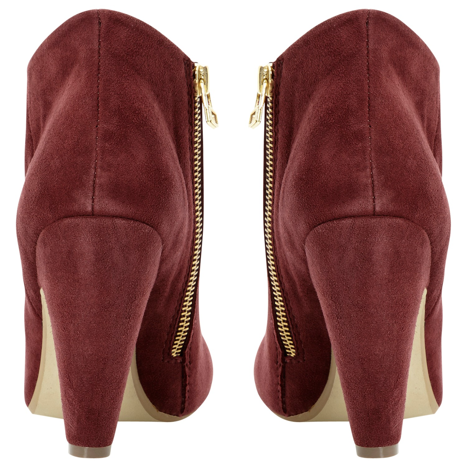 Steve Madden Panelope Suede Ankle Boots in Burgundy (Red)