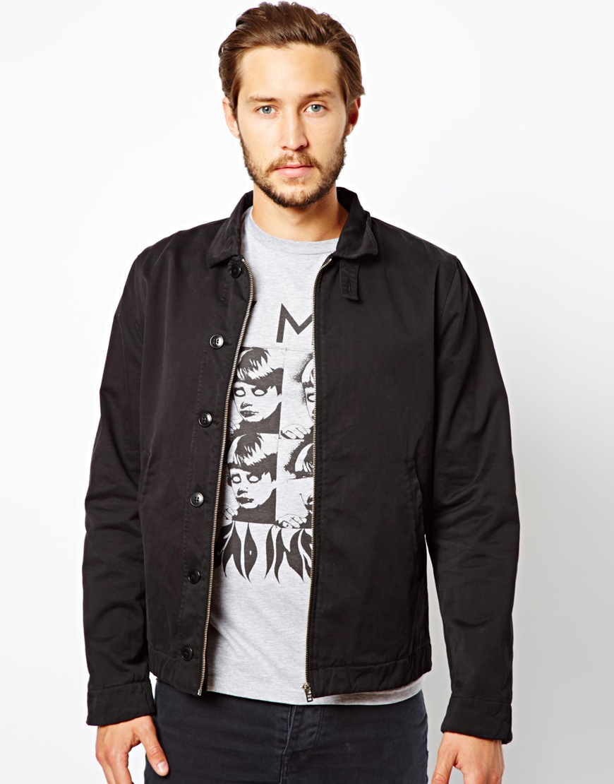 5b63e61188ac Lyst - YMC Cotton Twill Jacket in Black for Men