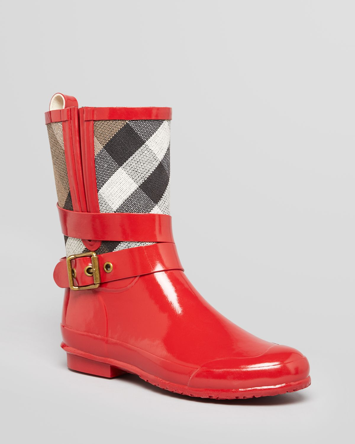 burberry rain boots red Online Shopping