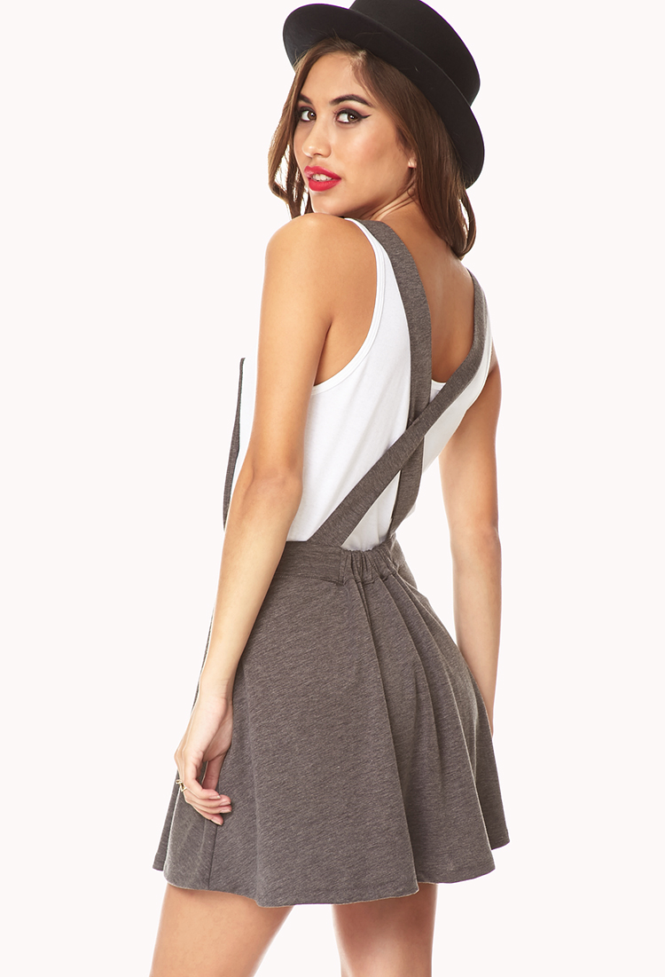 Forever 21 No-Fuss Overall Dress in Gray