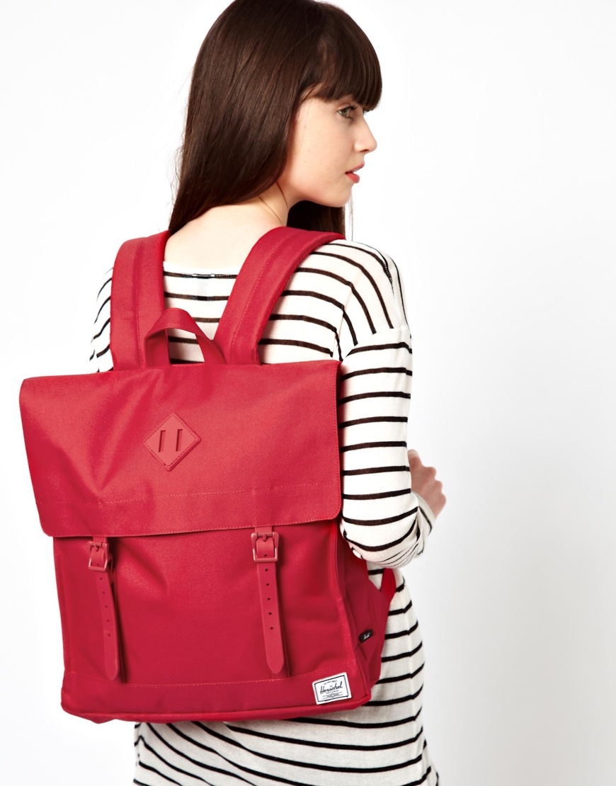 Lyst Herschel Supply Co Survey Backpack In Red