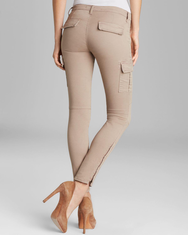 J Brand Jeans Grayson Skinny Cargo in Vintage Kenya in Natural