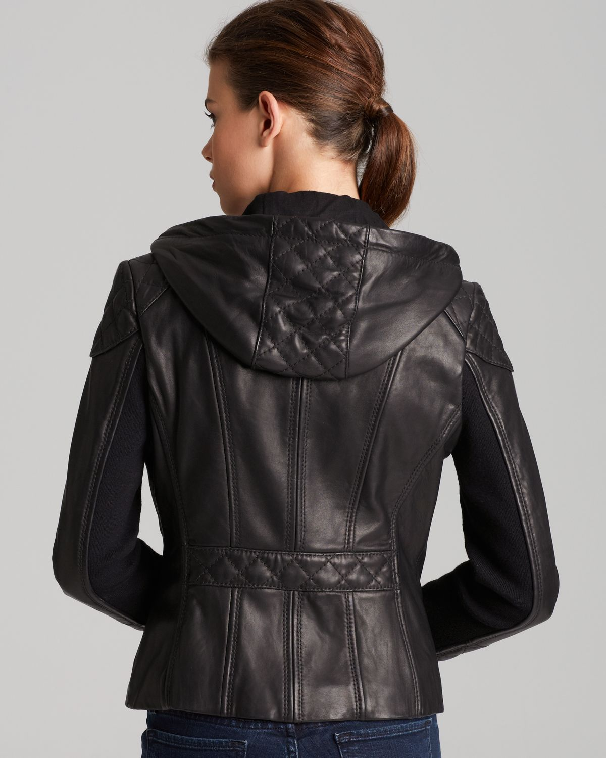 Michael kors leather jackets for women