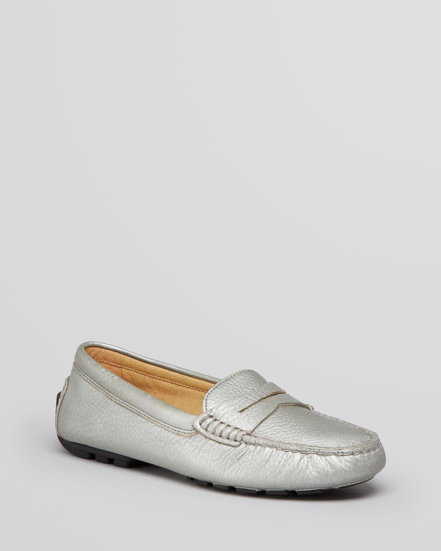 01dbabd187f Lyst - Lauren by Ralph Lauren Driving Moccasin Loafer Flats Camila ...
