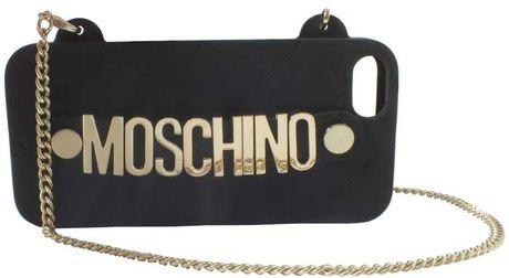 Moschino Iphone Crossbody in Black