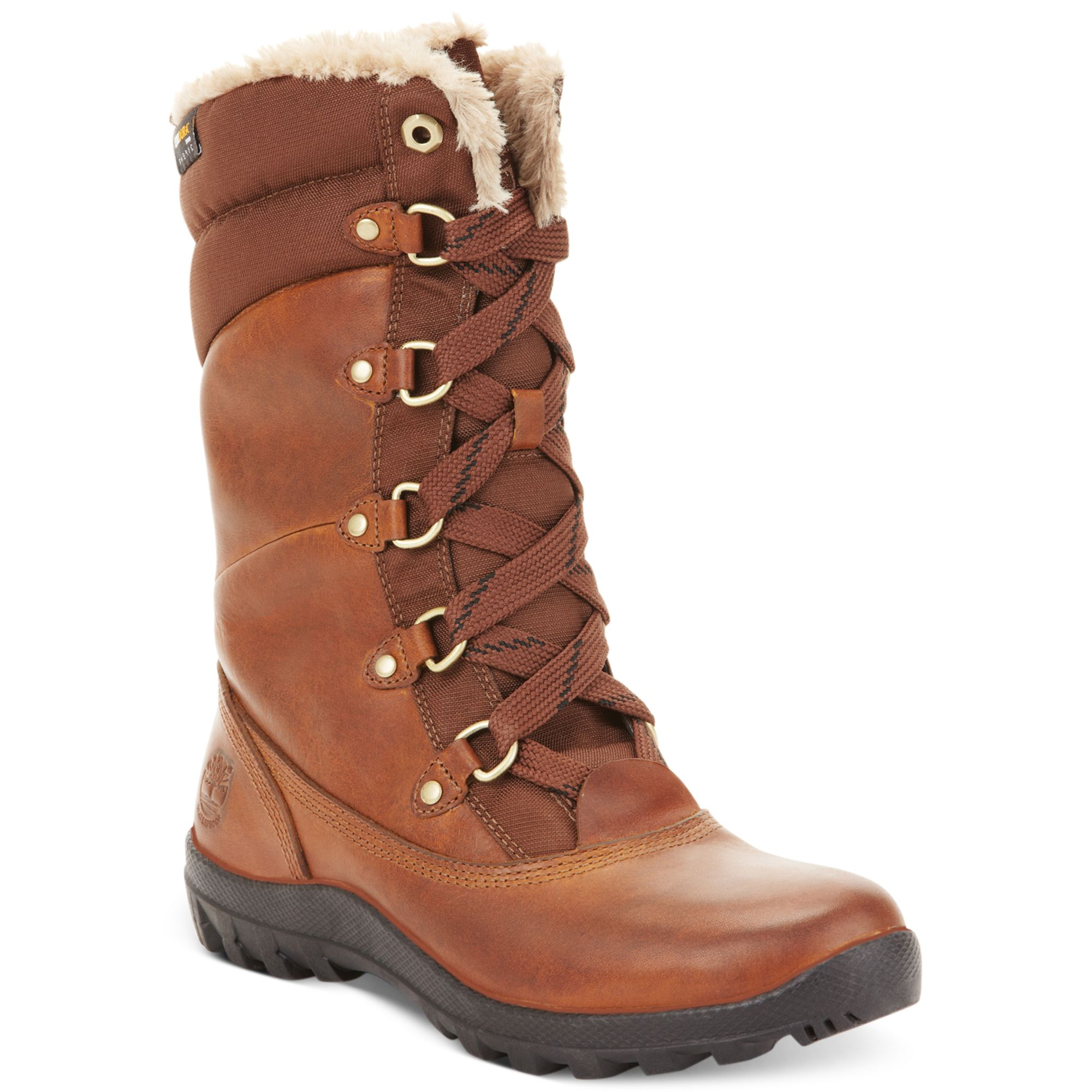 timberland women 39 s mount hope snow boots in brown tobacco. Black Bedroom Furniture Sets. Home Design Ideas