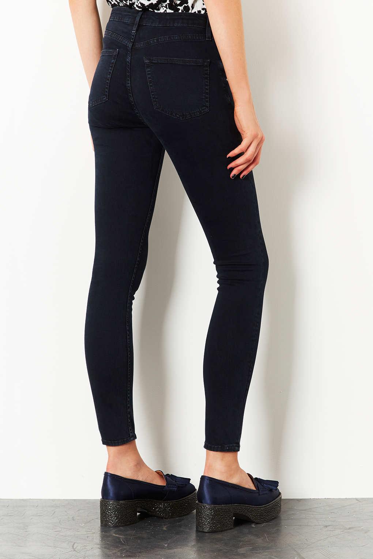 Topshop Moto Blue Black Jamie Jeans in Black | Lyst