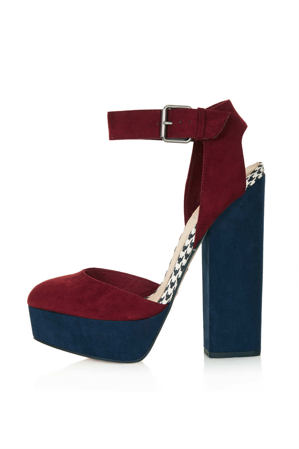 7c2c843de371 Lyst - TOPSHOP Shelly Cutout Back Platforms in Red