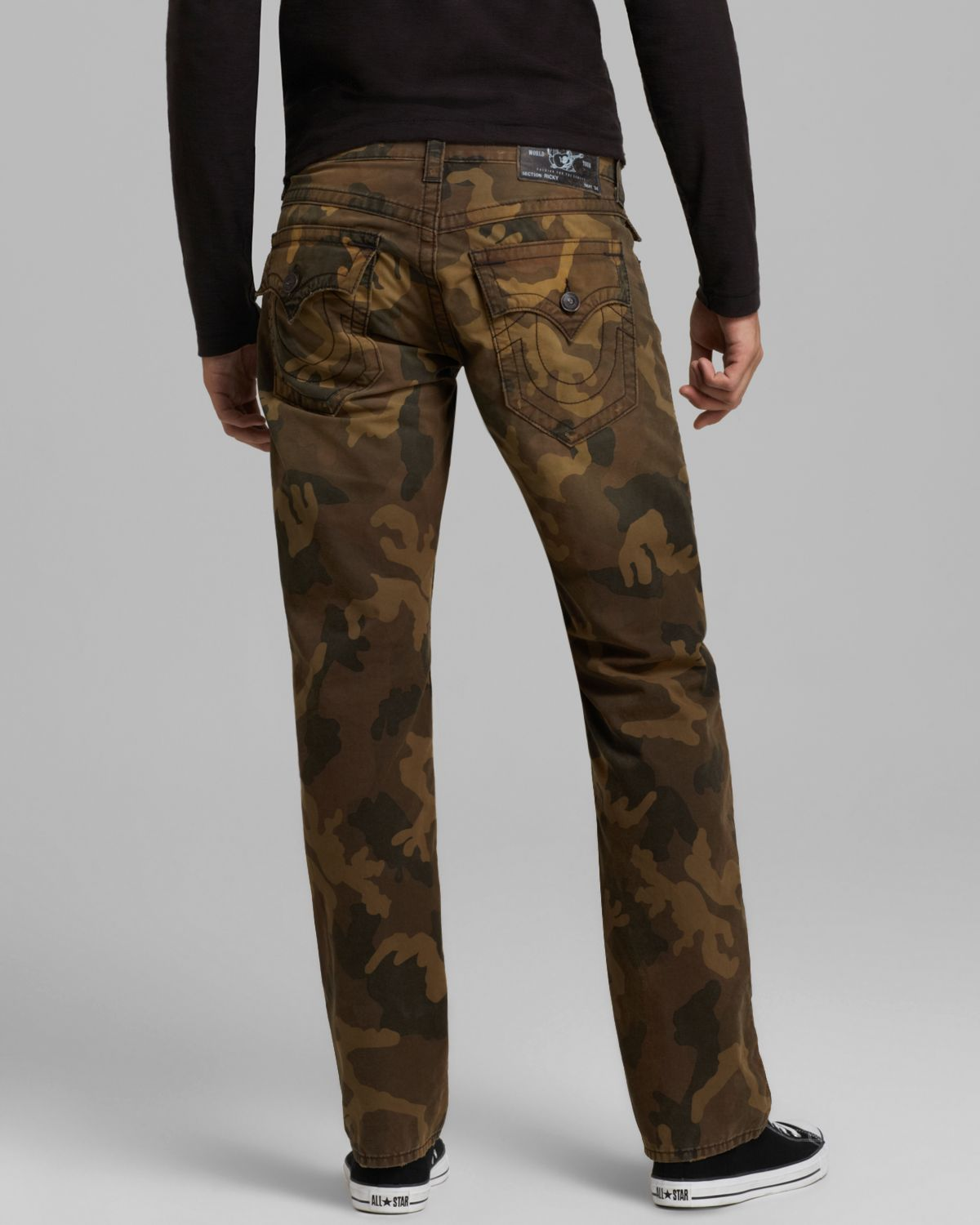 true religion jeans ricky straight fit in camo in brown. Black Bedroom Furniture Sets. Home Design Ideas