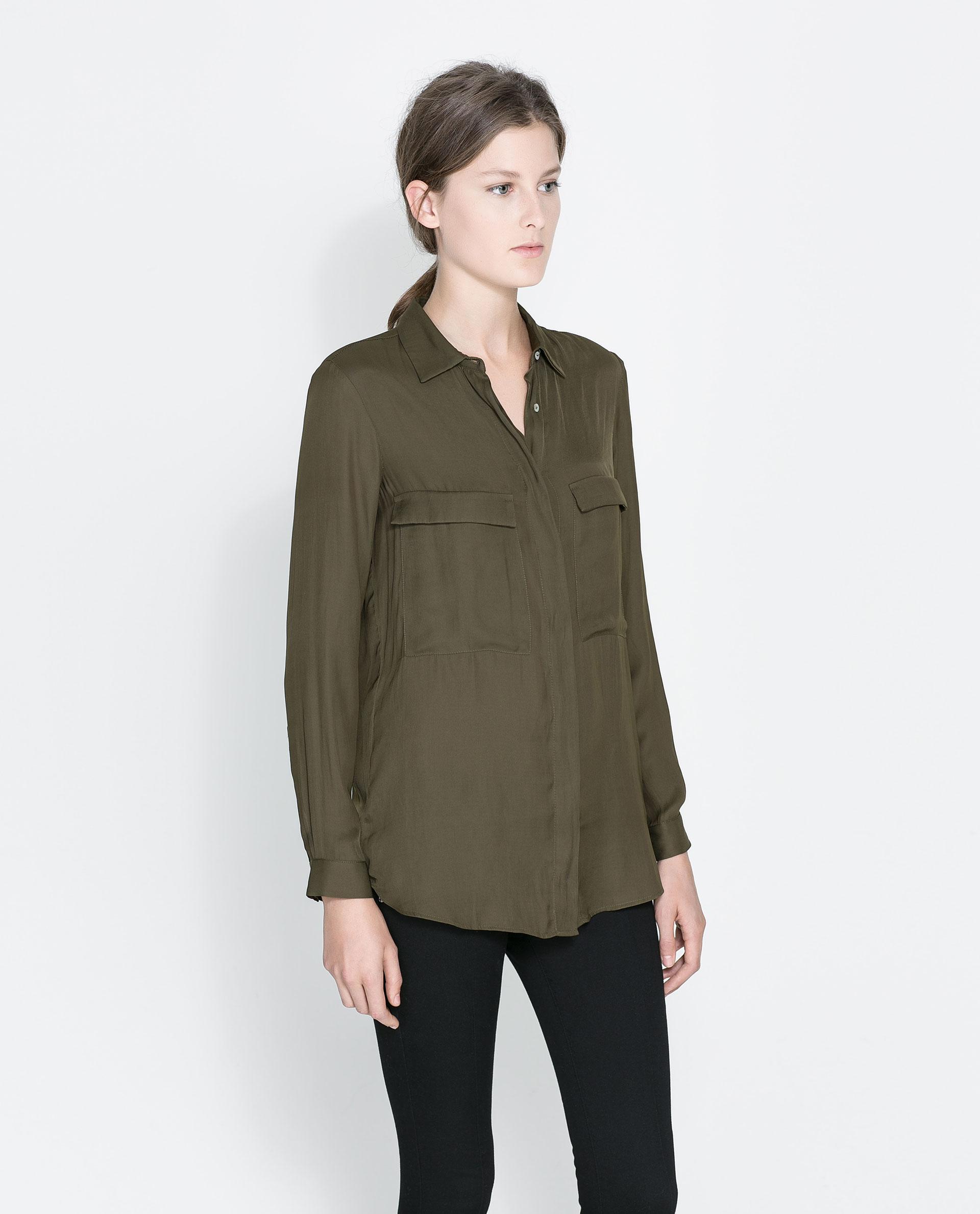Zara Shirt Style Blouse 22