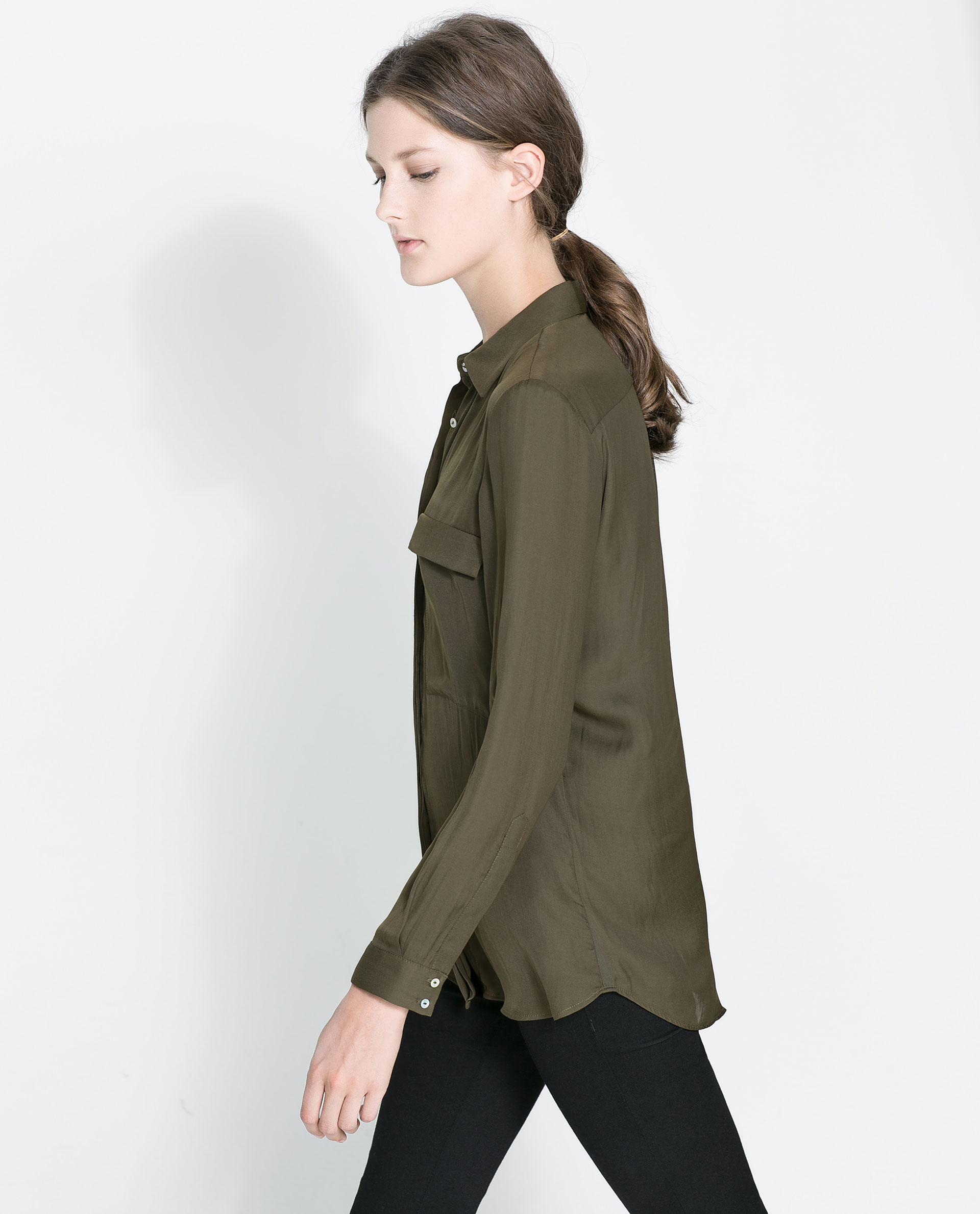 Zara Shirt Style Blouse 54