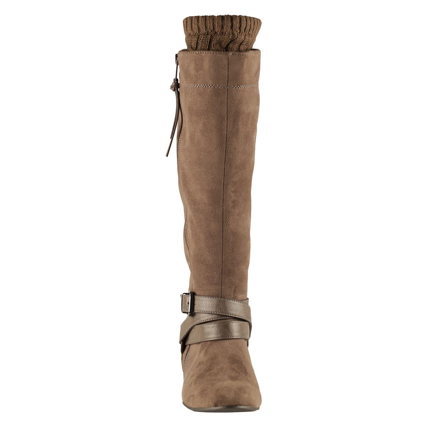 aldo floria flat boots in gray lyst