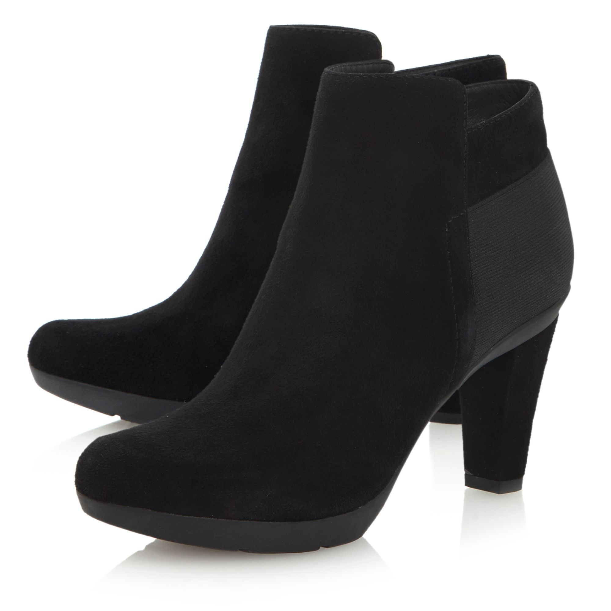 geox insprtn d34g9a elastic back suede ankle boots in