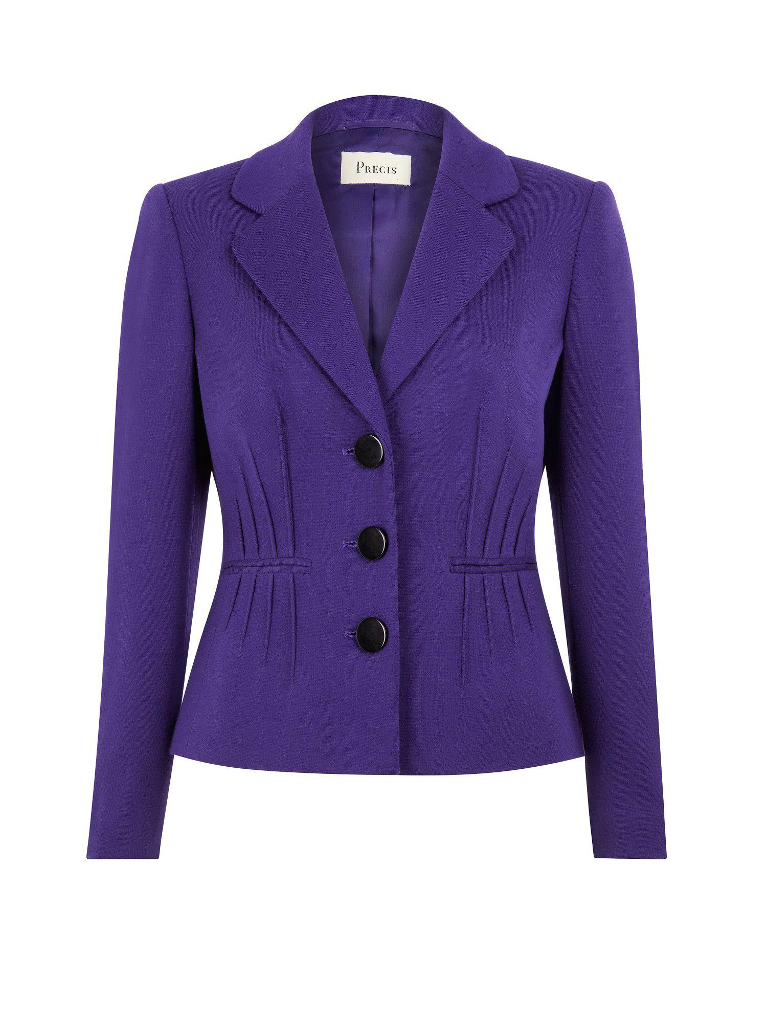Precis Petite Purple Pintuck Jacket In Purple | Lyst