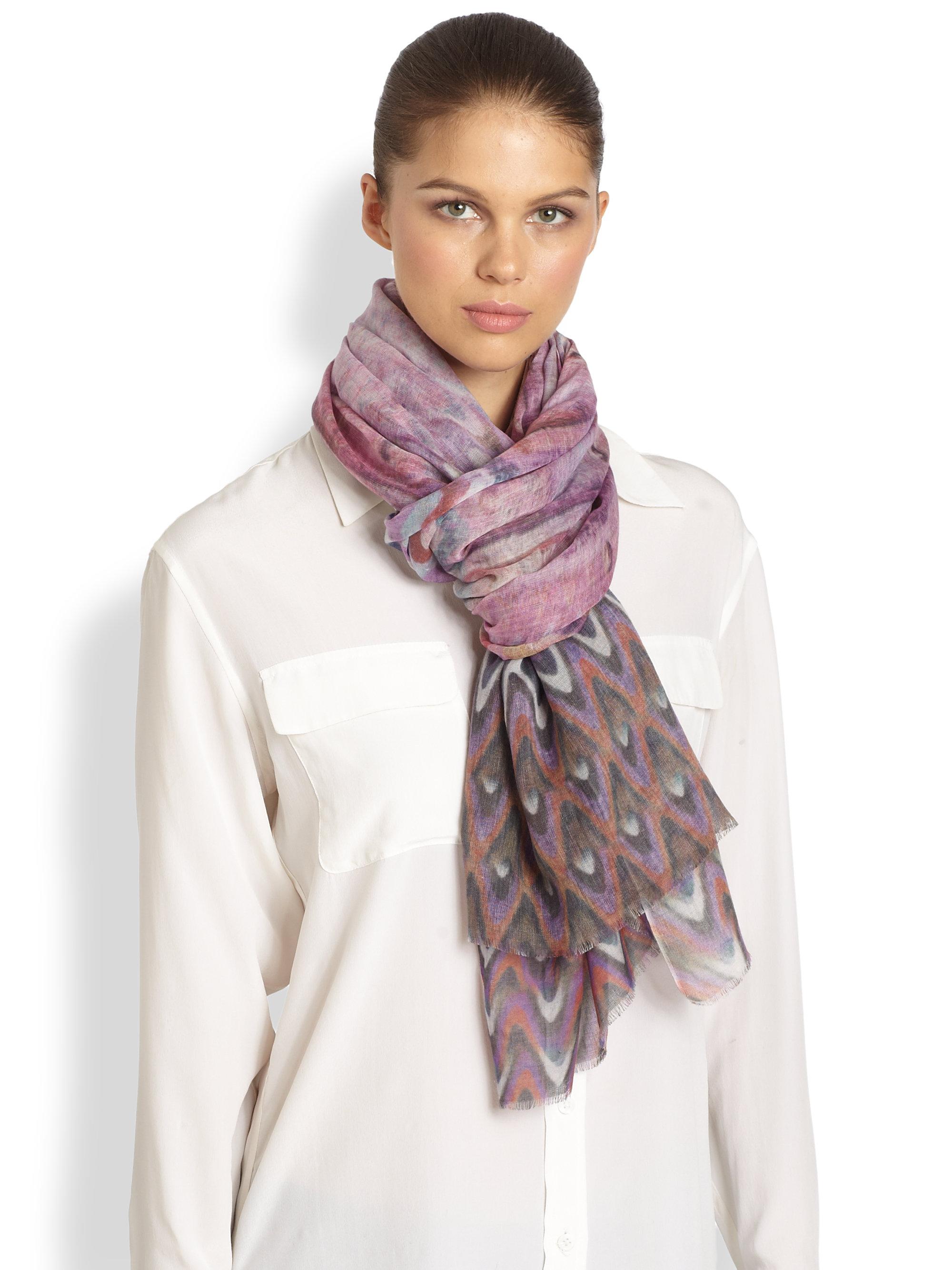 tilo zigzag scarf in purple multi lyst