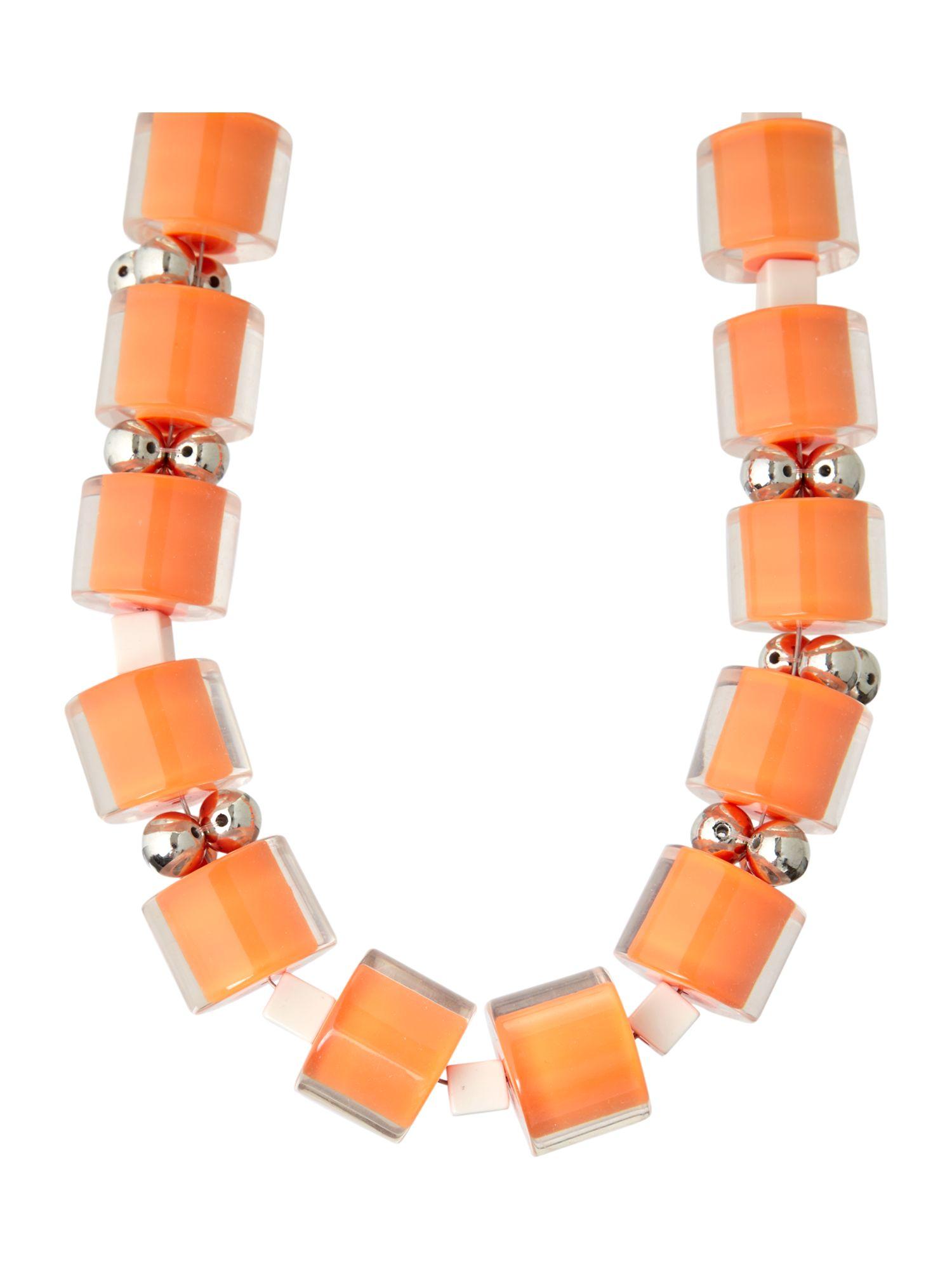 Weekend by Maxmara Beaded Necklace in Orange