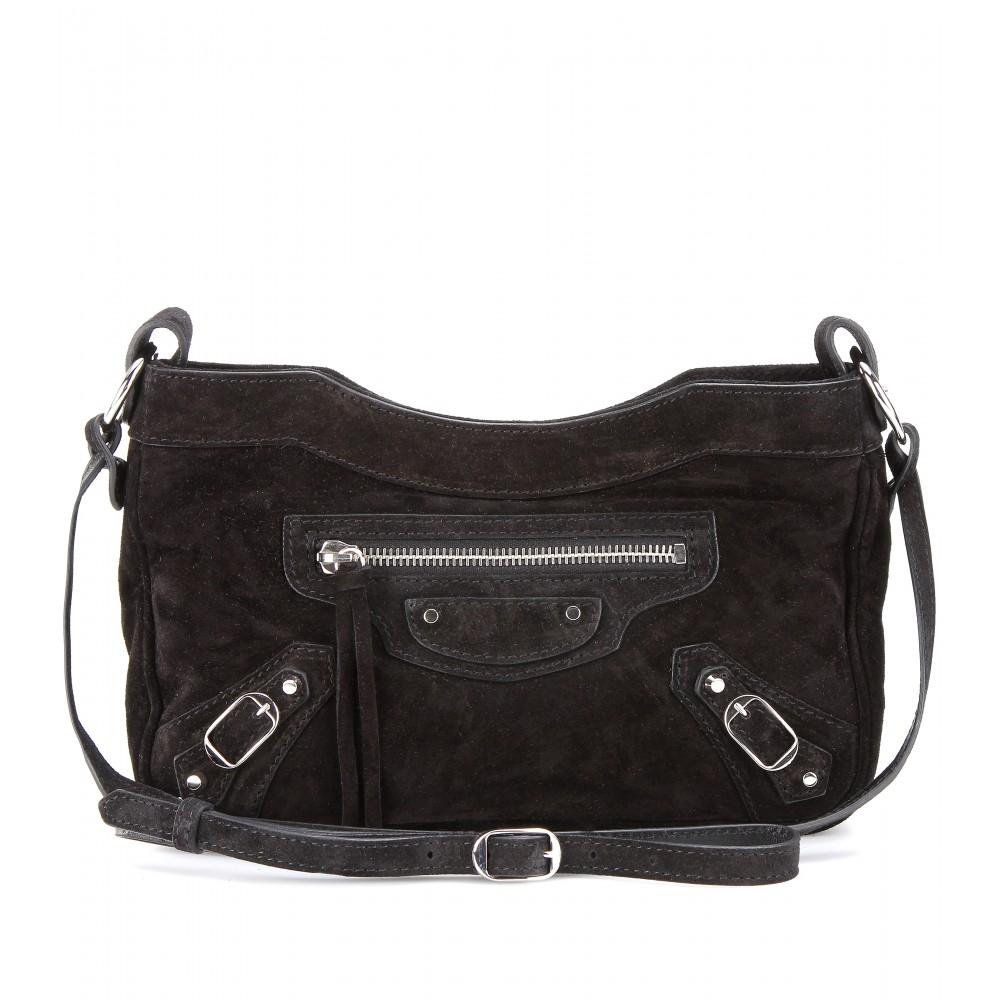 ecebb24546 Balenciaga Classic Hip Suede Shoulder Bag in Black - Lyst