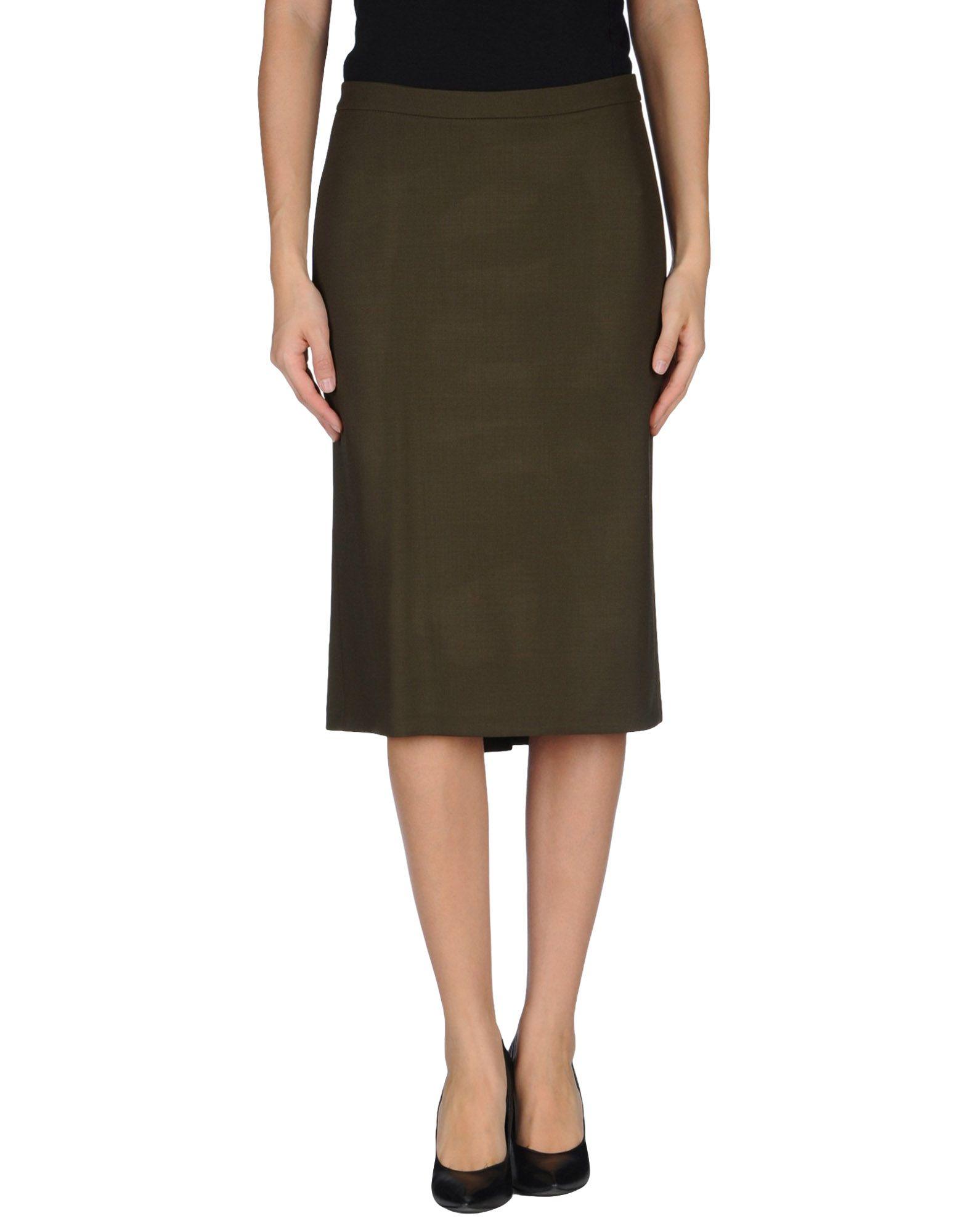 etro knee length skirt in green green lyst