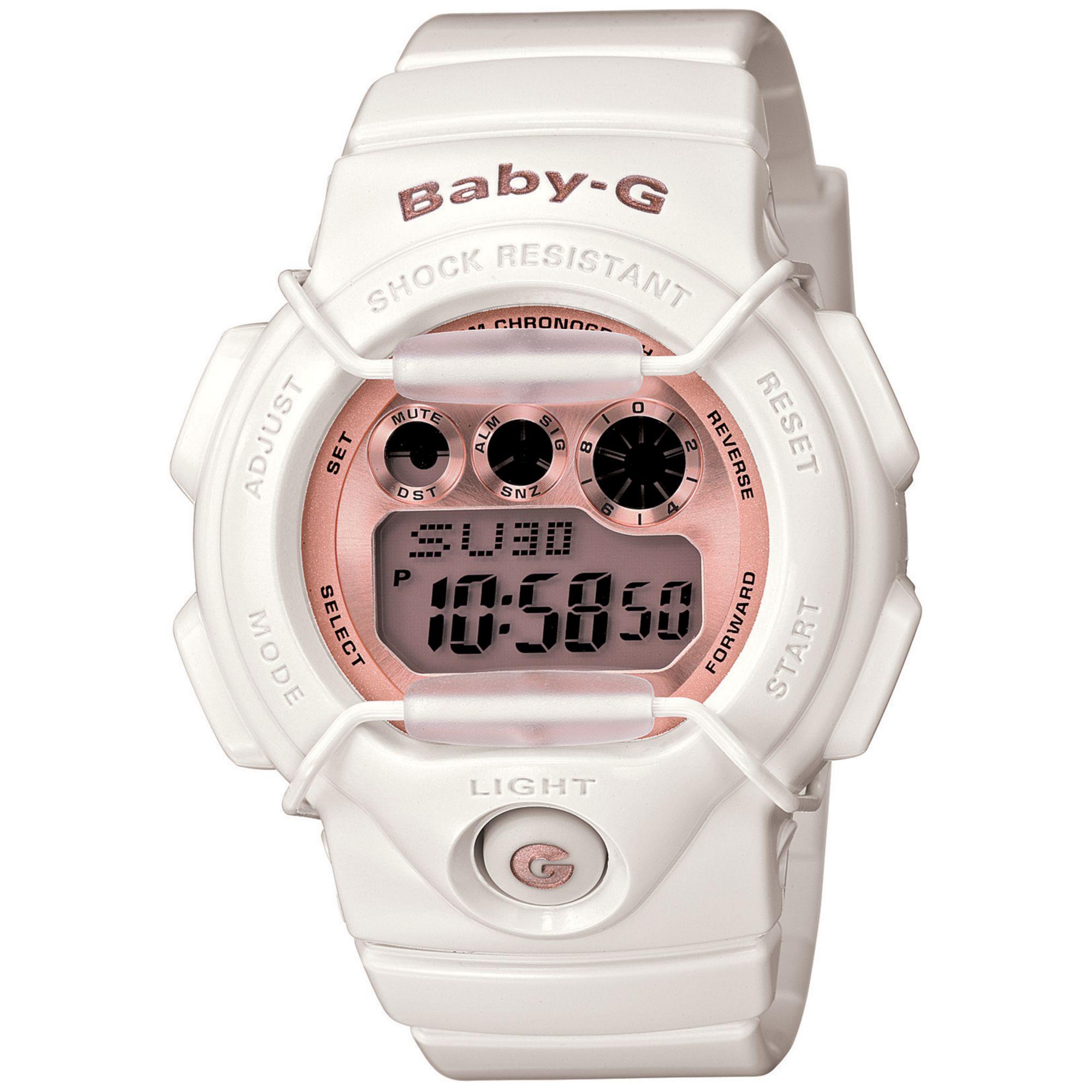 9d3cd27ea874 Lyst - G-Shock Baby G Watch Womens Digital Cream Resin Strap 39x45mm ...