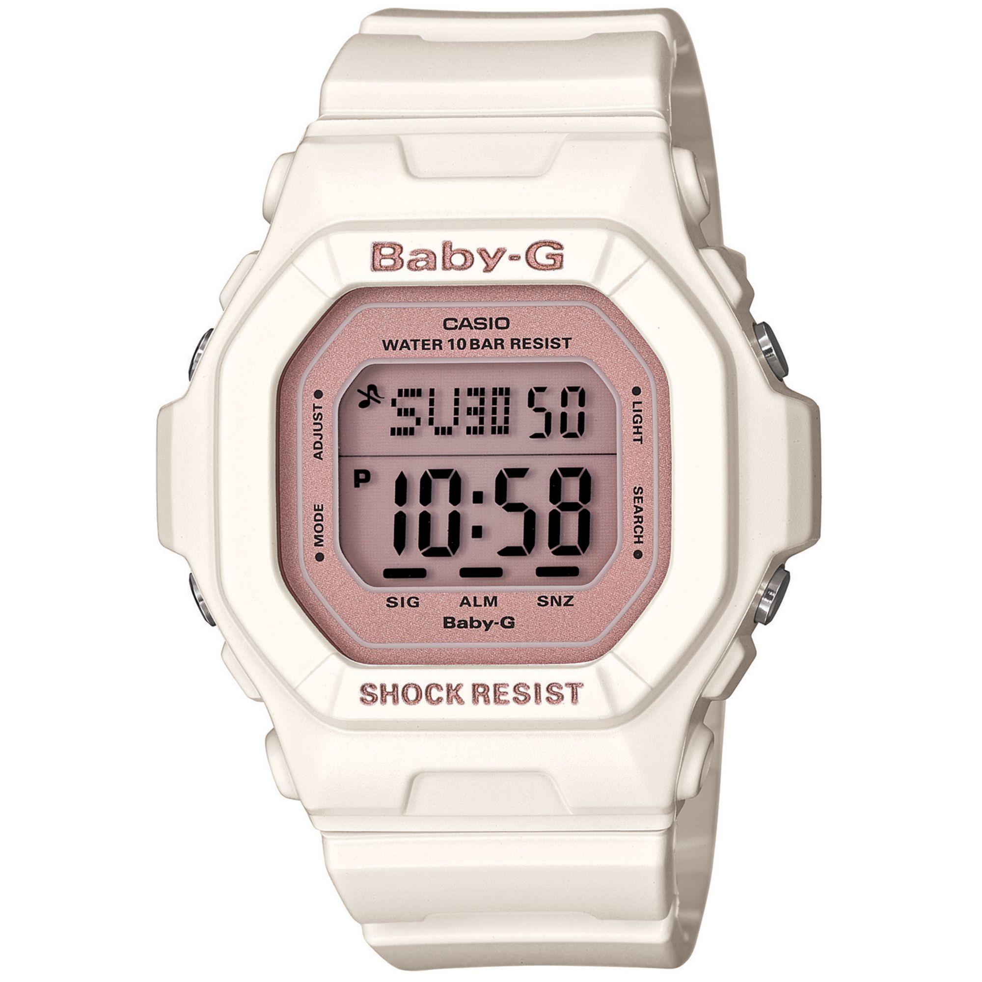 d49bbe55e G-Shock Babyg Watch Womens Digital Cream Resin Strap 40x43mm in ...