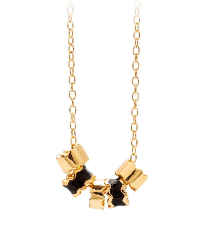 Zig Zag Jewellery: Gorjana & Griffin Zig Zag Enamel Small Necklace In Gold