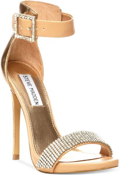 Steve Madden Marlenee Sandals in Gold (Rhinestone)