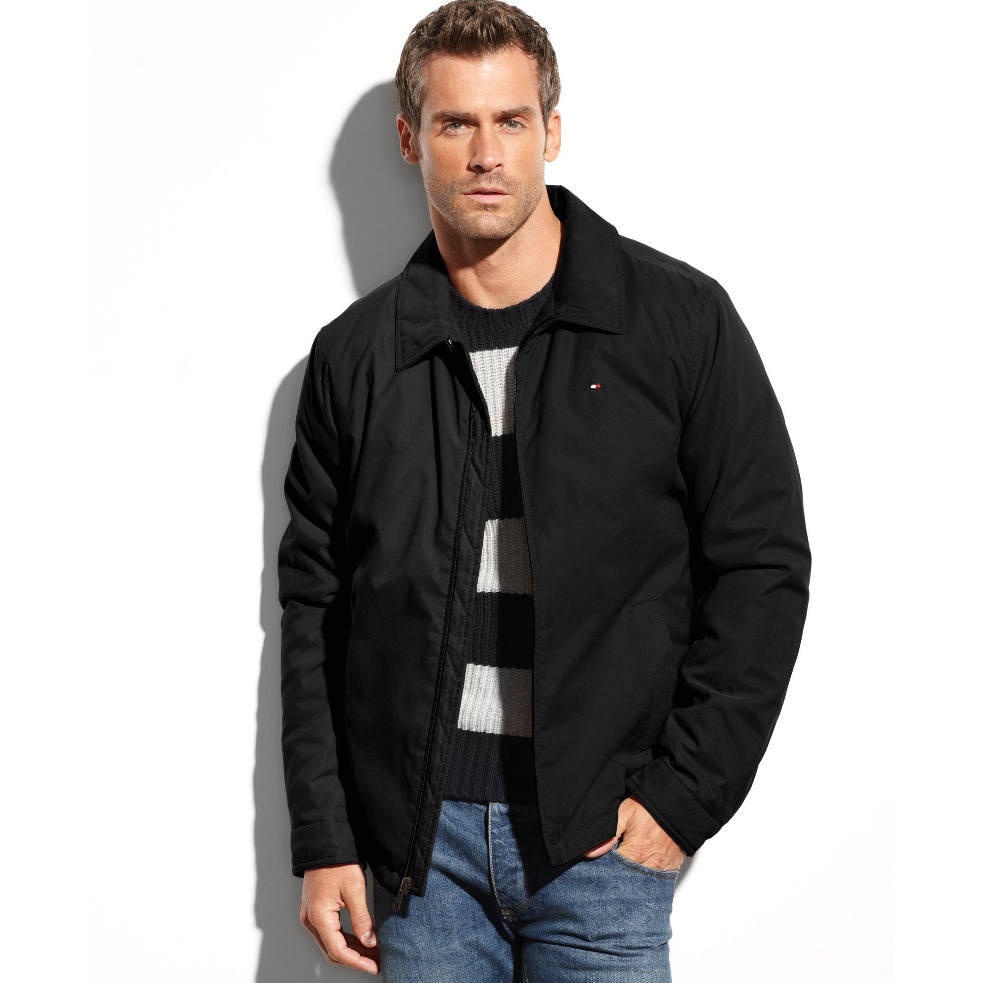 63643576af7 Lyst - Tommy Hilfiger Zip-front Micro-twill Jacket in Black for Men