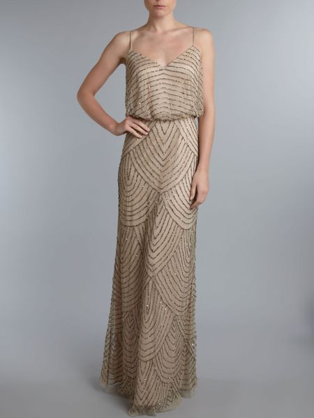 Adrianna papell dresses maxi party cocktail dresses for Deco taupe et beige