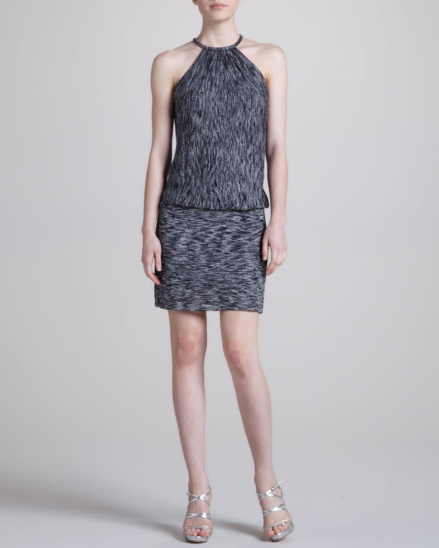 Laundry By Shelli Segal Metallic Sweater Dress in Gray ...