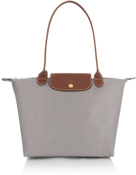 Longchamp Le Pliage Shoulder Medium Bag In Gray Lyst
