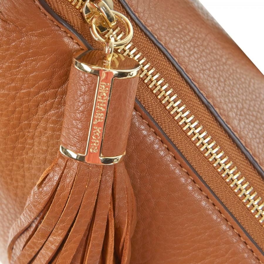 fd1fb30c2d5 Michael Kors Weston Grained Leather Crossbody Bag in Brown - Lyst