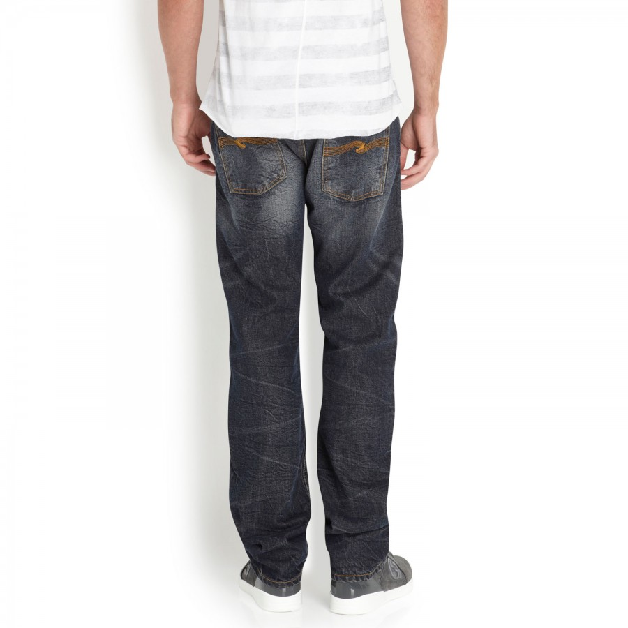 Nudie Jeans Average Joe Straight Leg Jeans in Blue for Men