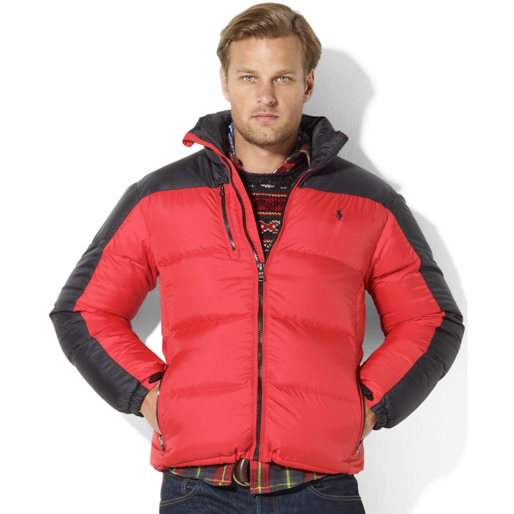 836649b359b3 Lyst - Ralph Lauren Snow Polo Core Trek Down Jacket in Red for Men