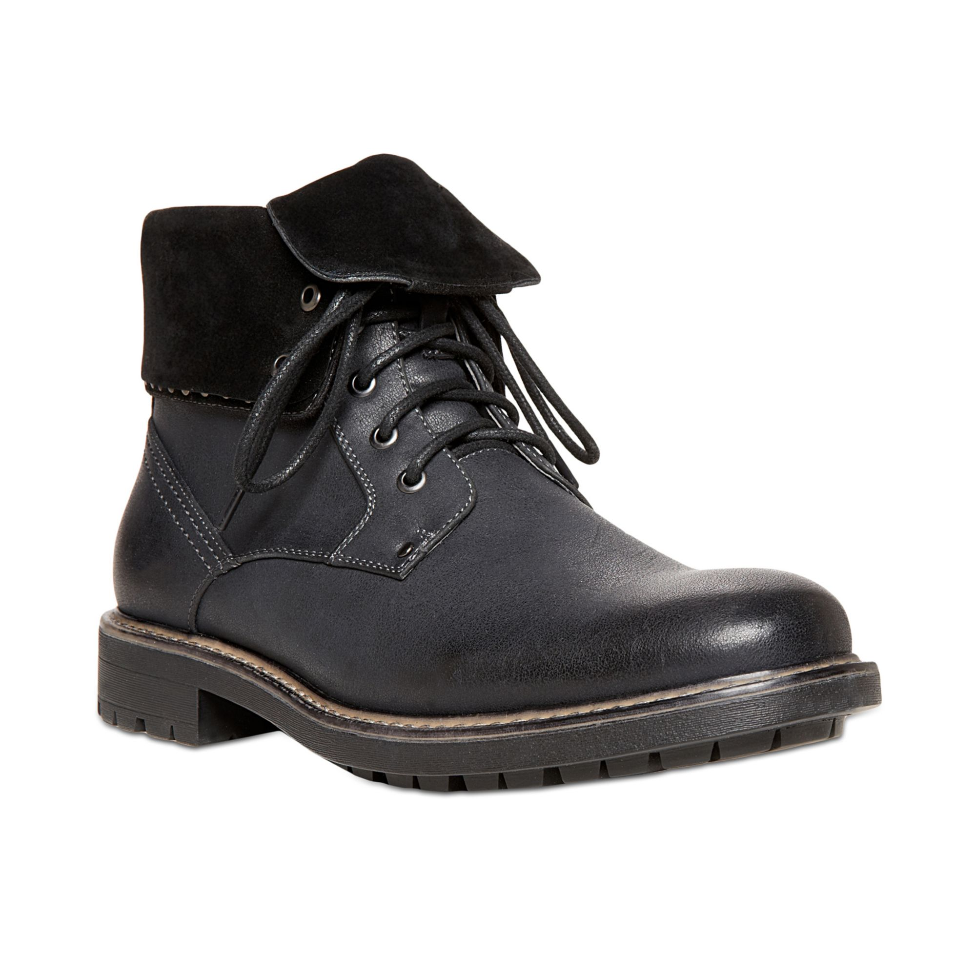 steve madden madden mens shoes mylow boots in black for