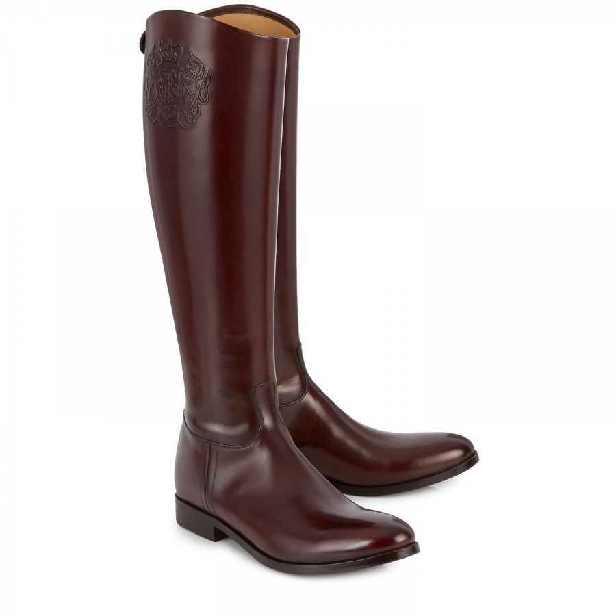 alberto fasciani leather knee boots in brown lyst