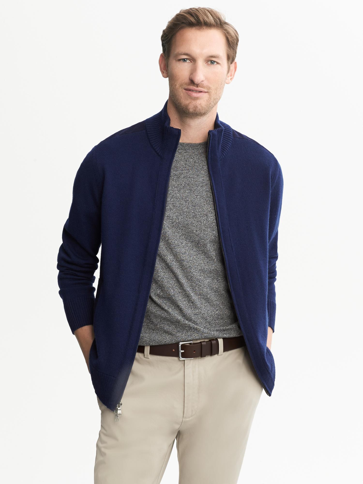 Republic Silkcashmere Half Zip Sweater - Sweater Grey