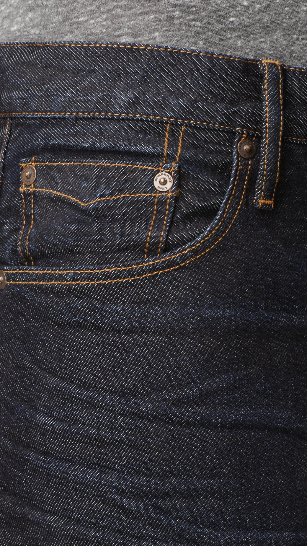 Burberry Swaine Raw Tapered Fit Jeans in Deep Indigo (Blue) for Men