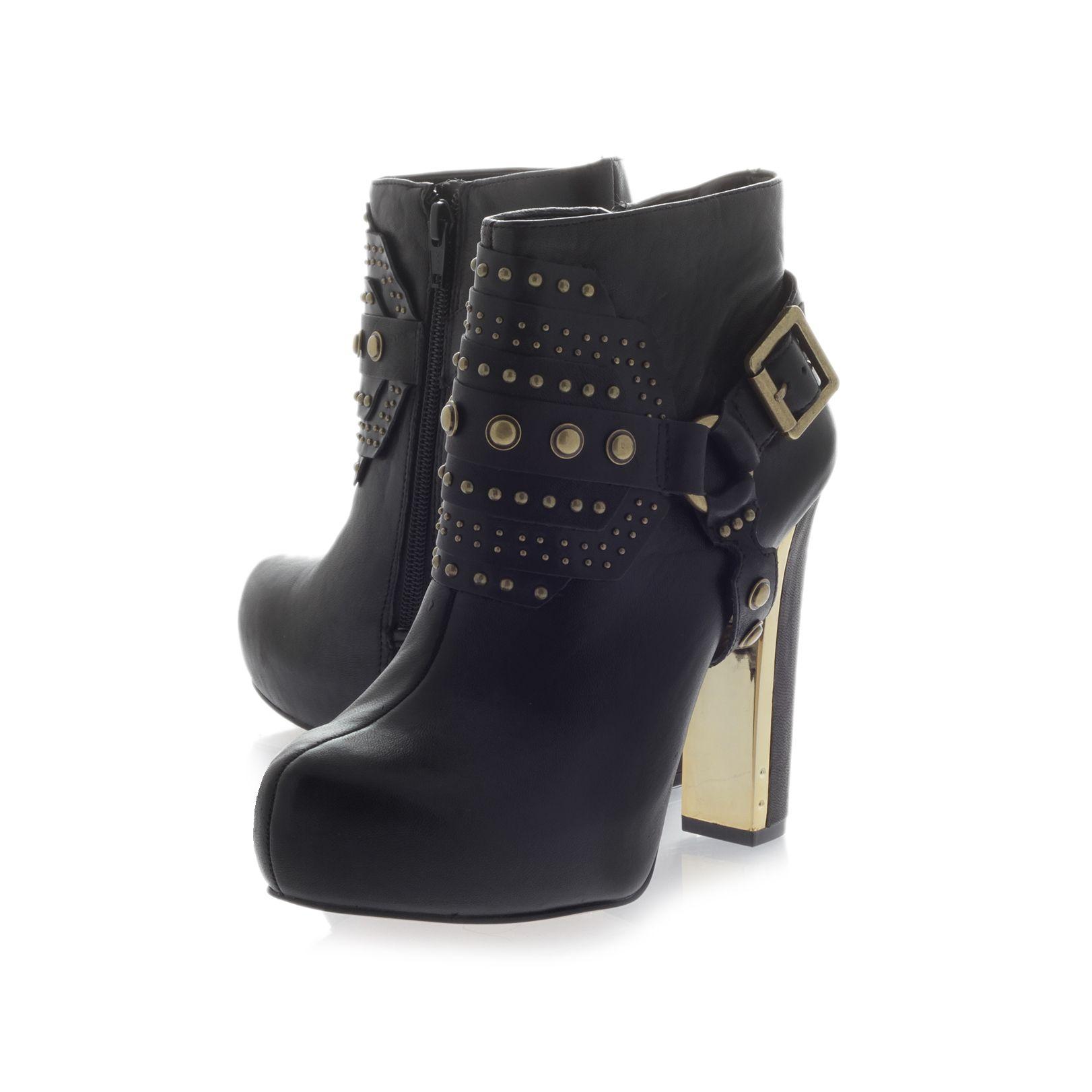 Carvela Kurt Geiger Leather Slim Ankle Boots in Black