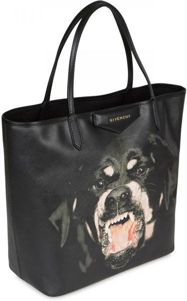 Givenchy Antigona Rottweiler Printed Tote In Black