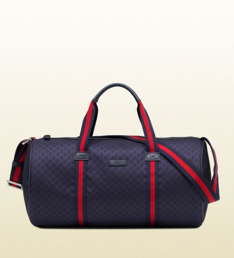 Gucci Blue Micro Gg Nylon Gym Bag in Blue for Men